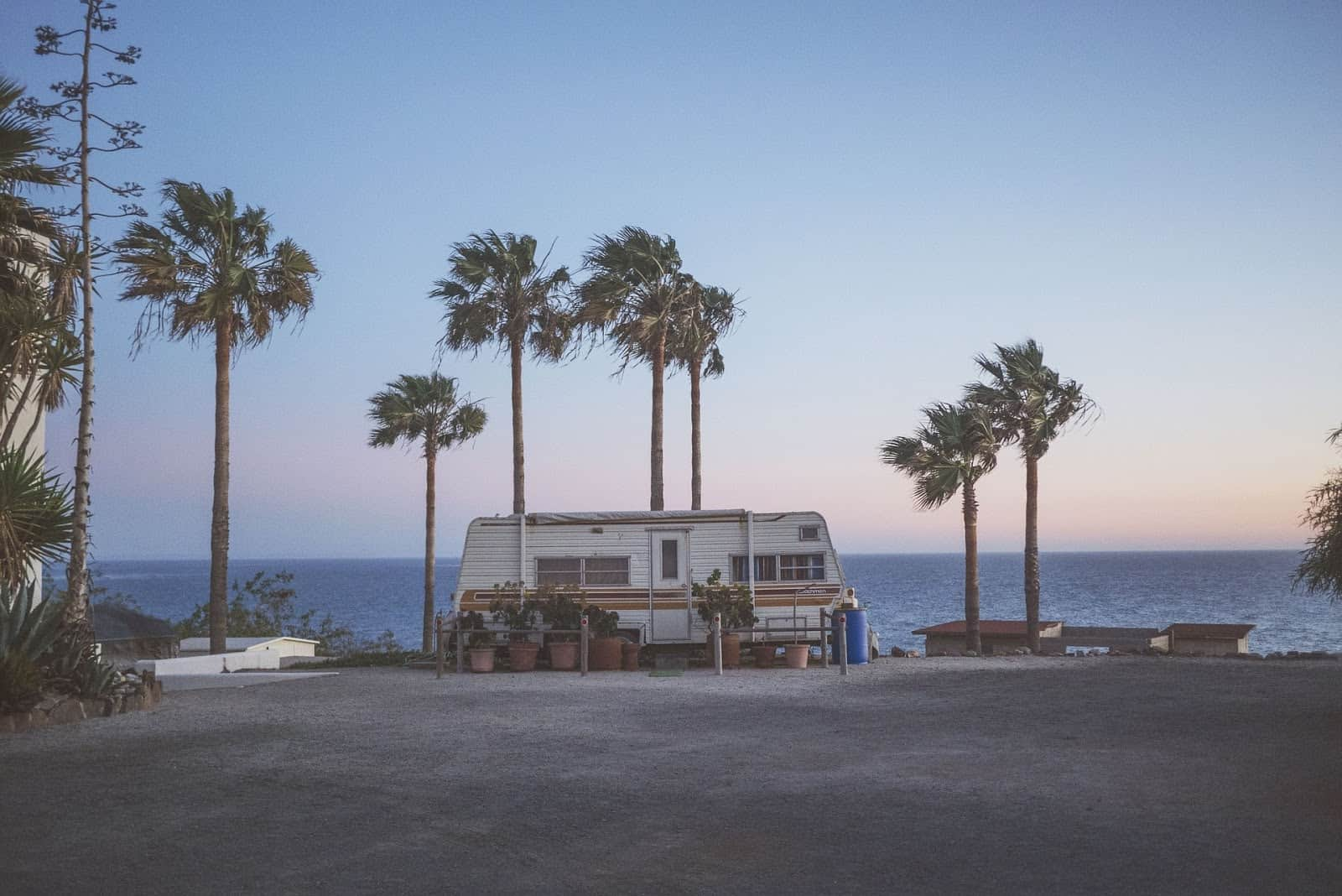 Living in RV On The Beach