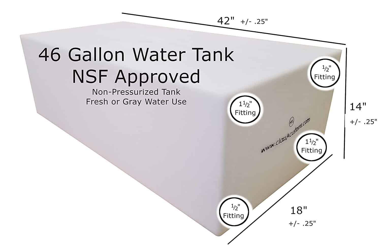 46 gallon water tank