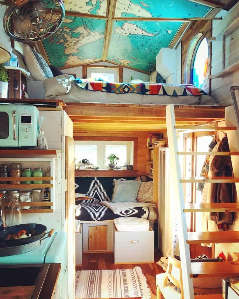 Tiny house map ceiling