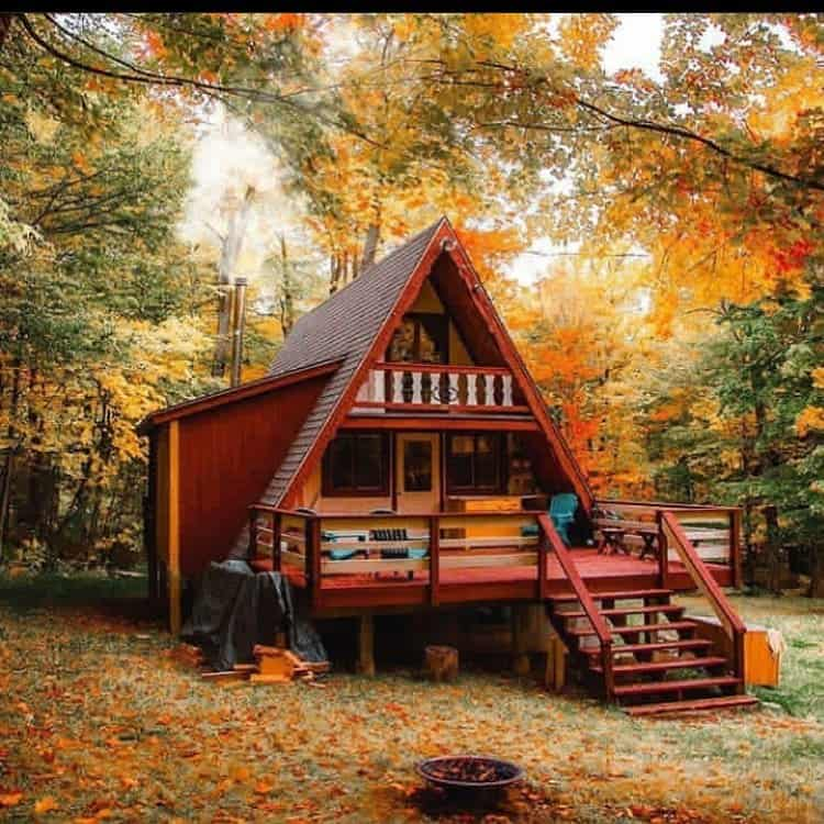 little red cabin in the woods