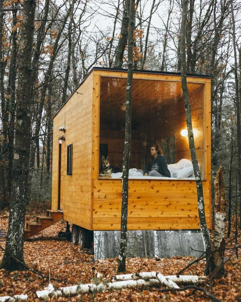 wood frame tiny house