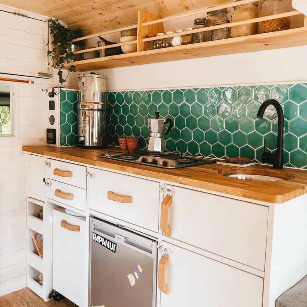 tiny house with beautiful kitchen and water filter