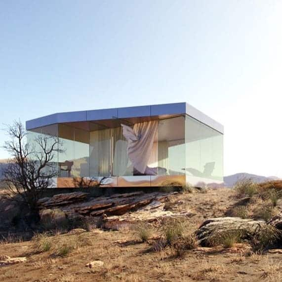 glass tiny house