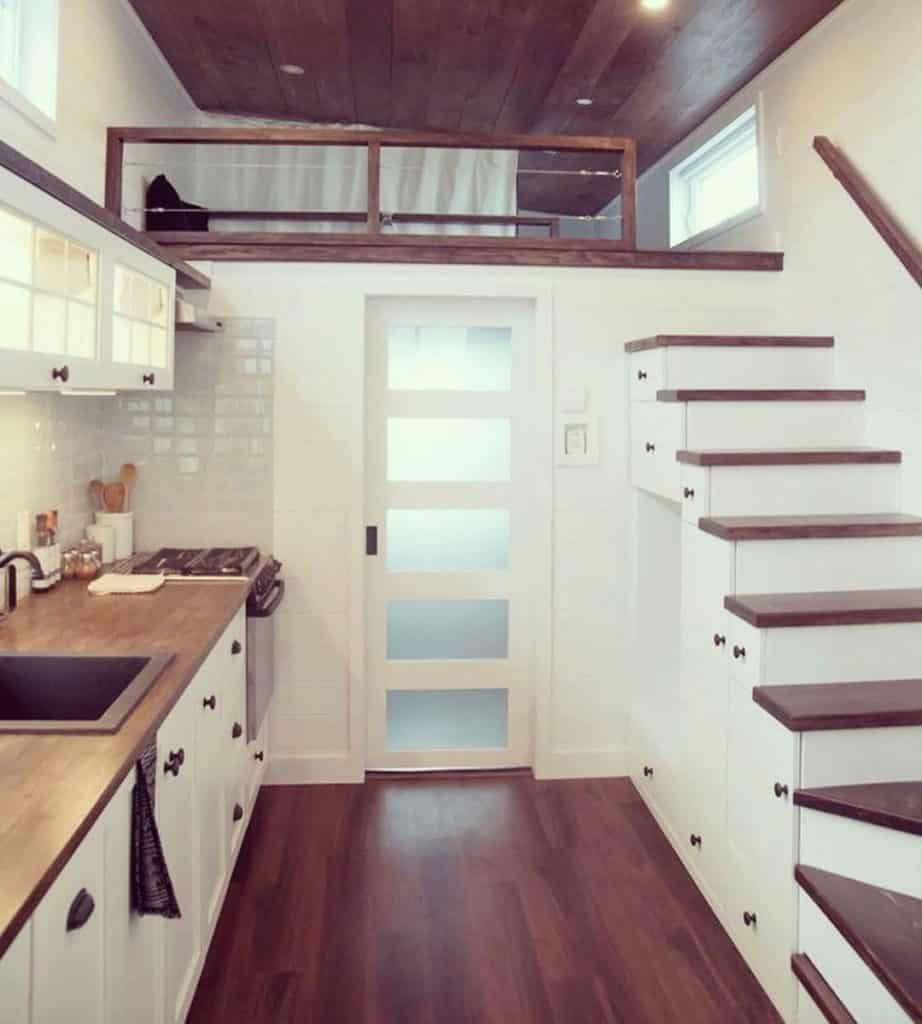 tiny home with wooden floors
