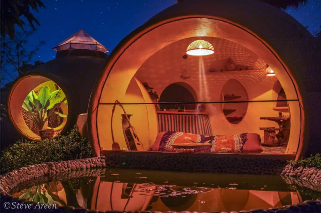 Aircrete dome tiny house