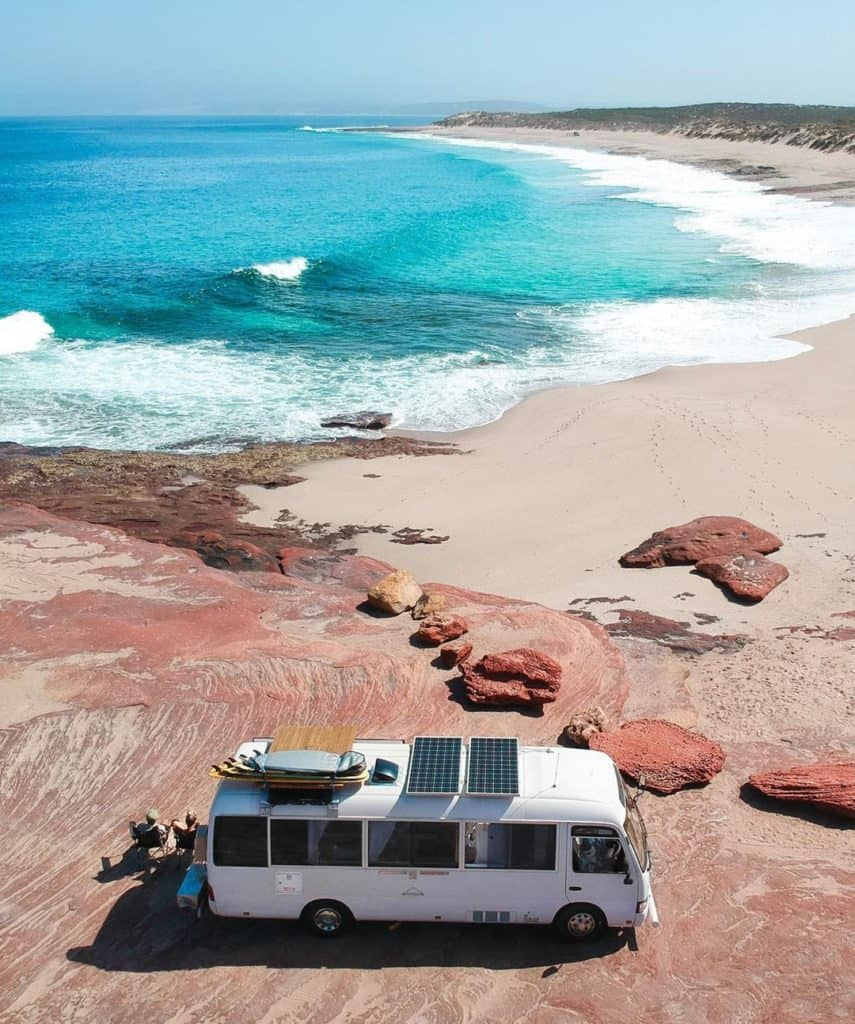 Saltie the bus #vanlife for surfing