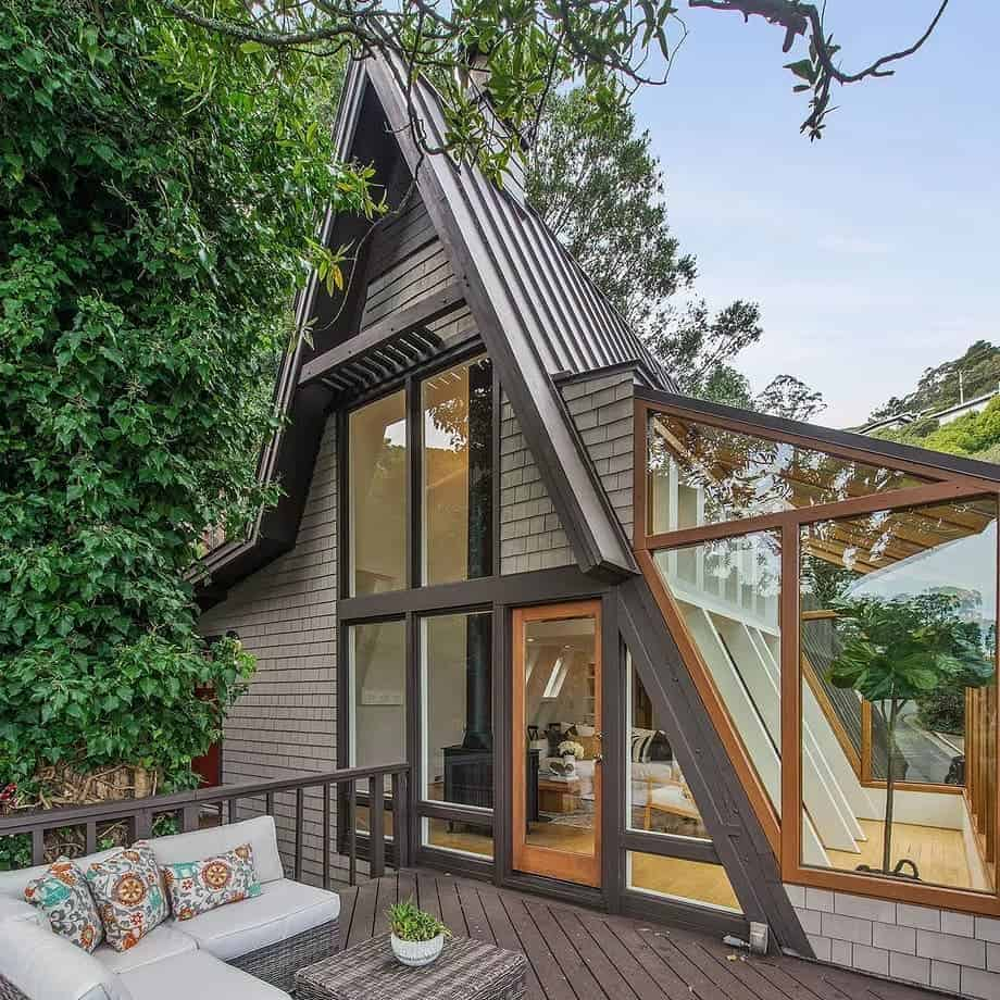 A-Frame designed tiny house