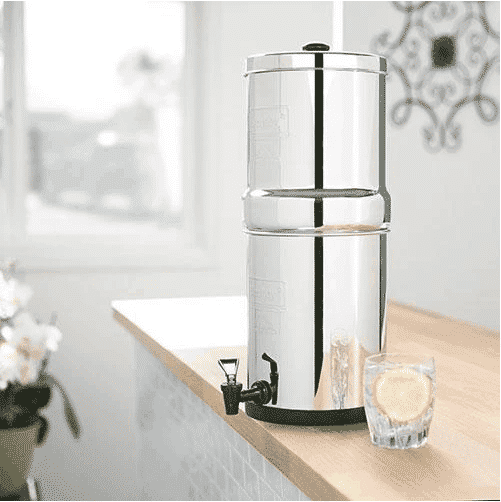 Stainless Steel Gravity Fed Water Filter 8.5L Big Berkey Water Filter System