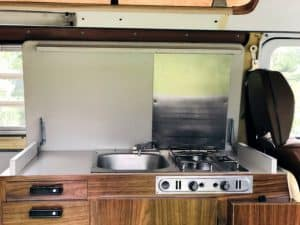 cook in a campervan