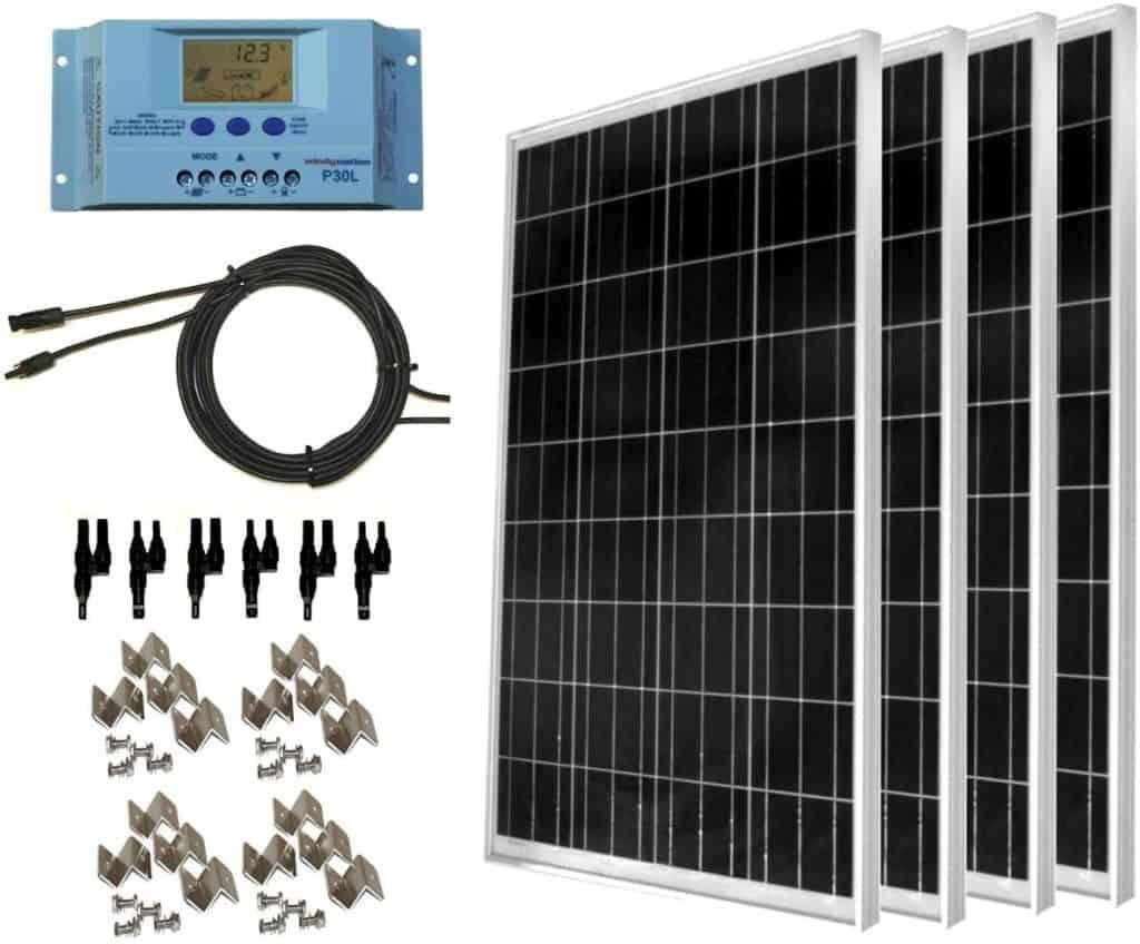 WindyNation 400 watt solar panel kit