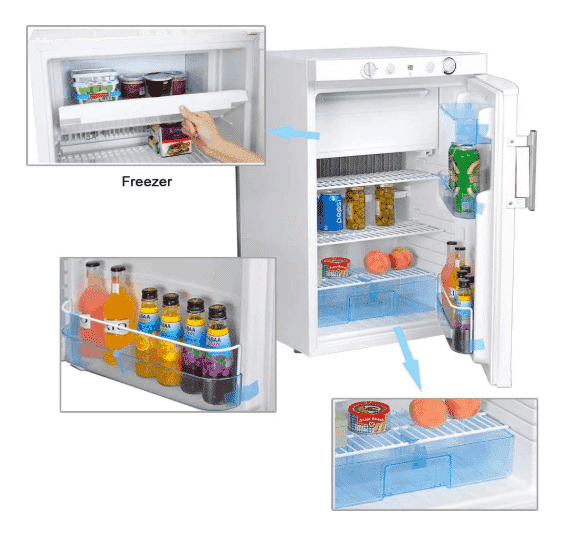 SMETA Propane Refrigerator with Freezer