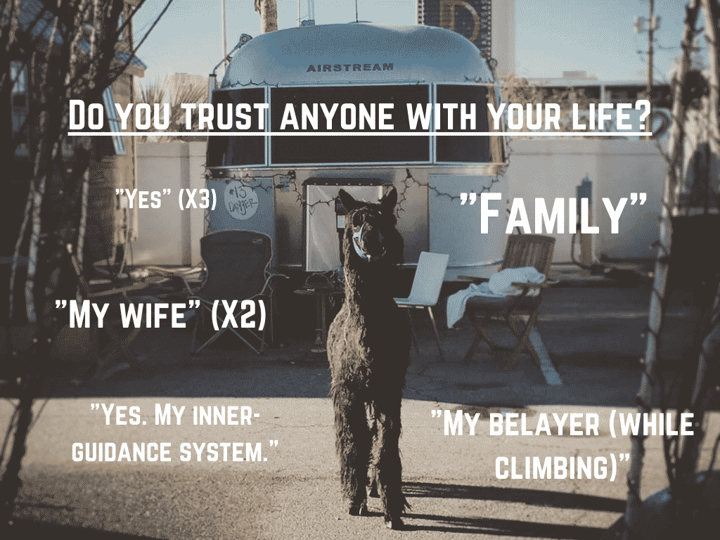 Do you trust anyone with your life?