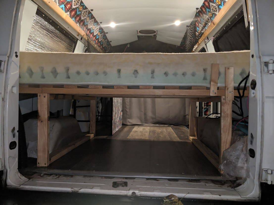 campervan bed and storage